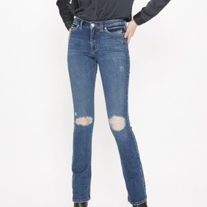 Silver Distressed Jeans Mid Rise Skinny Boot Cut